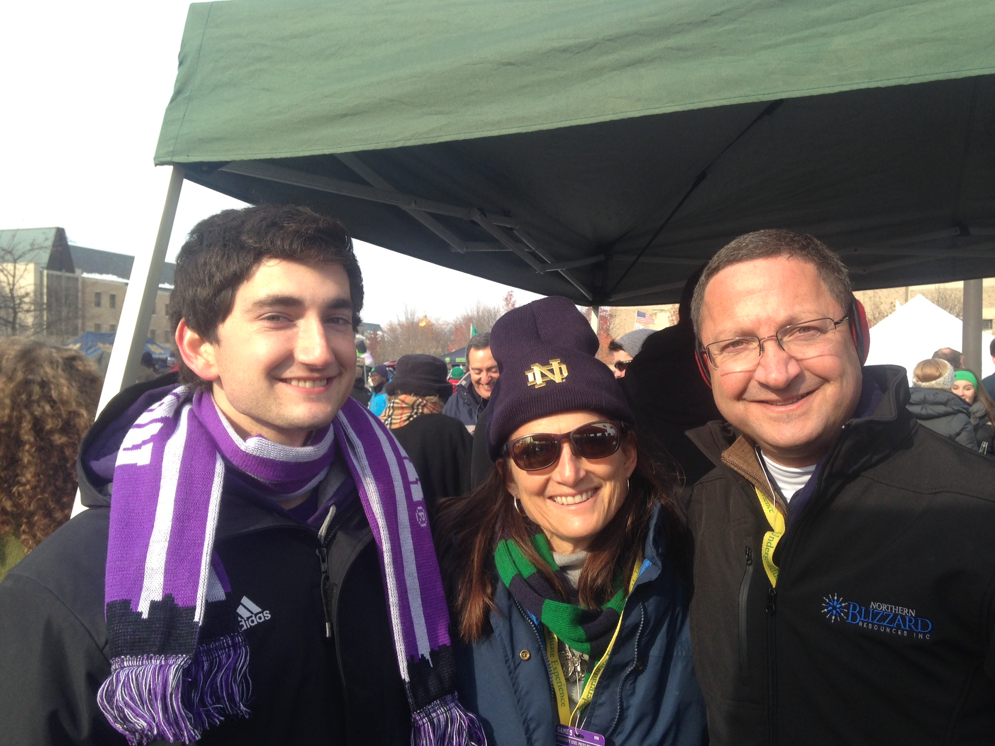 Daniel, me and my husband Ken at the tailgate